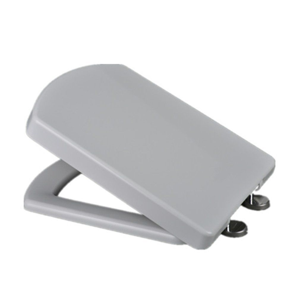 White Soft Close Luxury Square Toilet Seat Top Fix Squared Easy Clean SEAT01