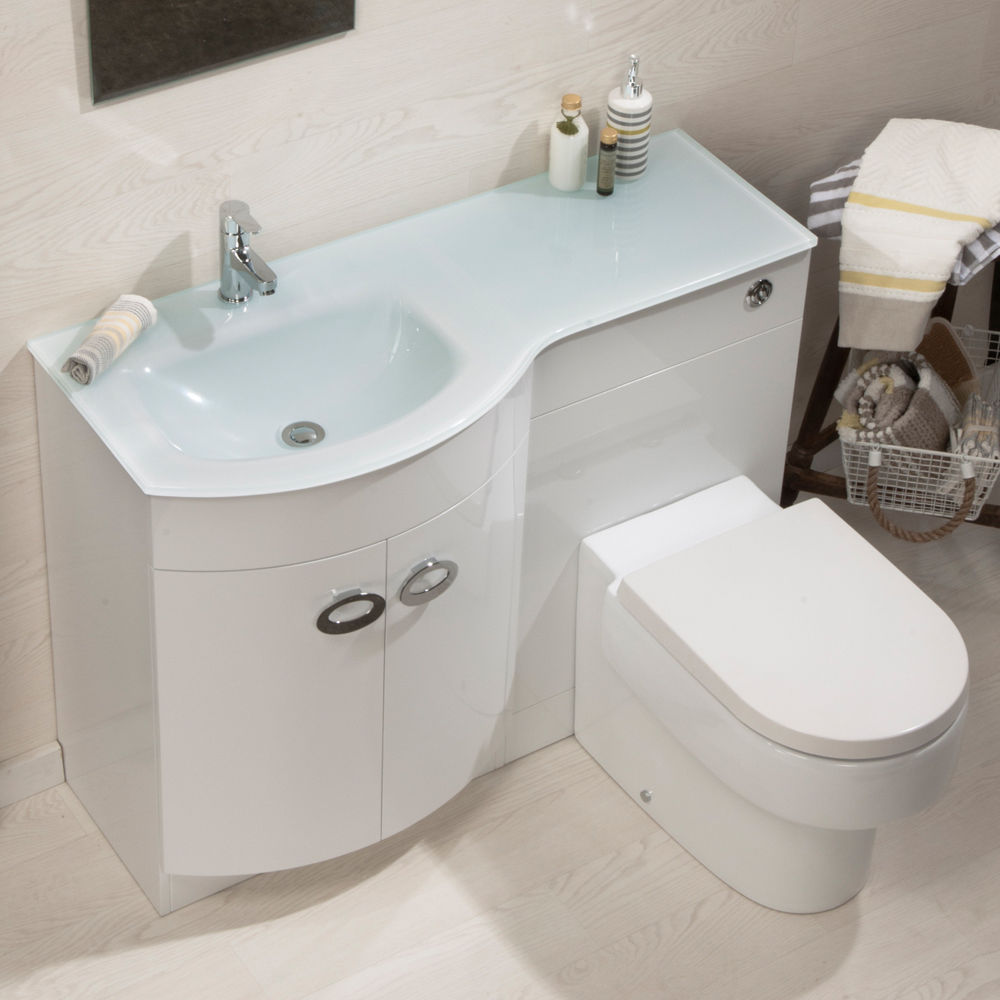 Bathroom Cabinet Back To Wall Toilet Basin Sink Suite ...