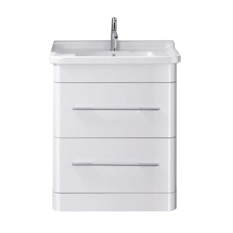 Bathroom Floor Standing Vanity Units : Mm bathroom floor standing vanity unit white ceramic