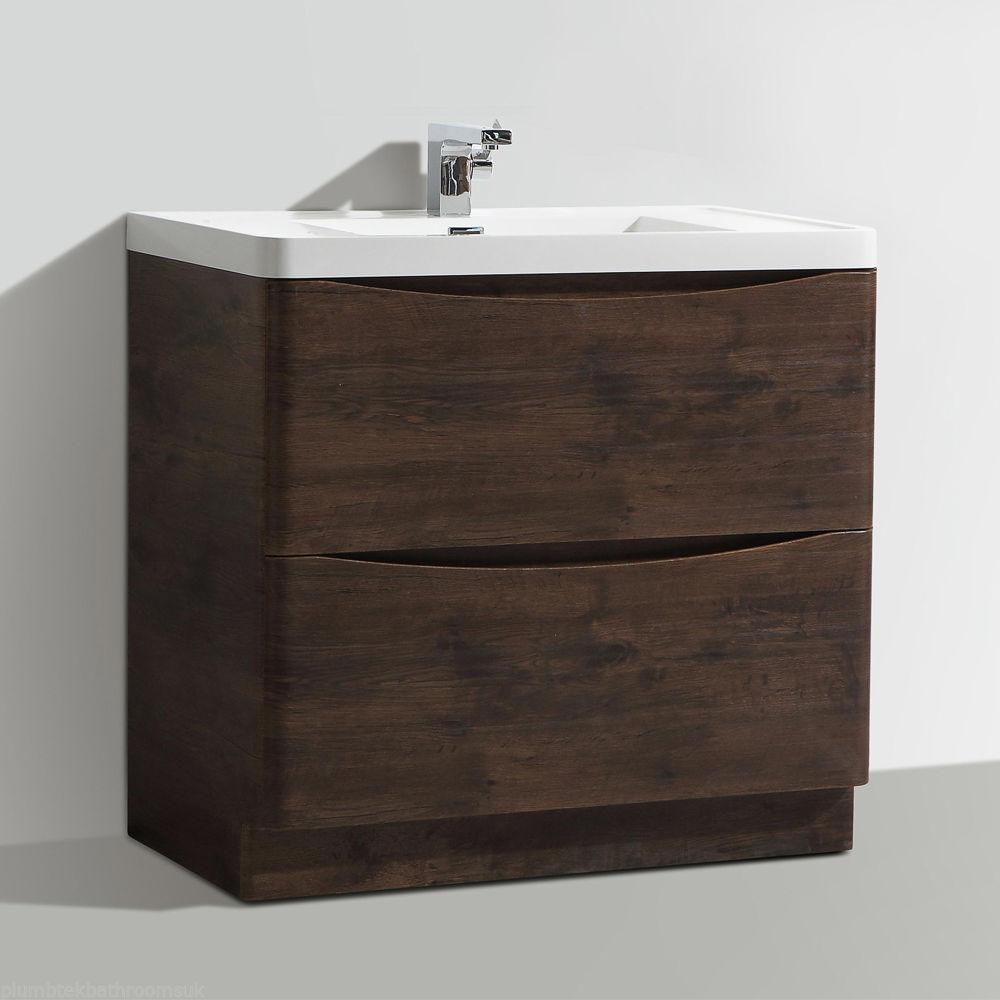 Bathroom Floor Standing Vanity Units : Mm designer chestnut bathroom floor standing vanity