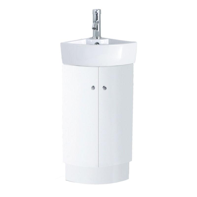 310mm Bathroom Designer White Floor Standing Corner Vanity Unit Ceramic Basin Ebay