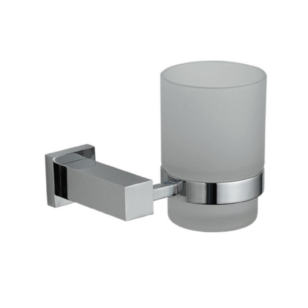 Astril Modern Designer Bathroom Chrome Tumbler Toothbrush