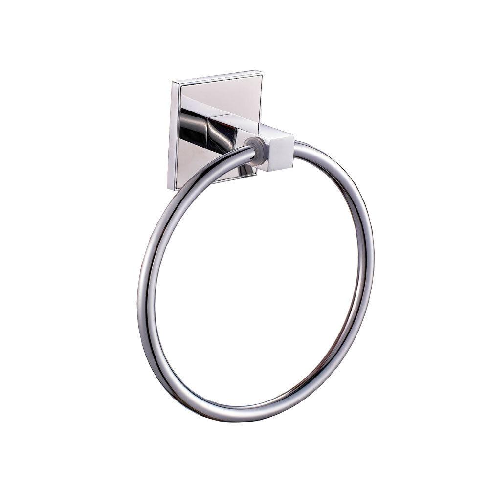 Saturn modern designer bathroom chrome towel ring wall mounted ebay for Chrome towel rings for bathrooms