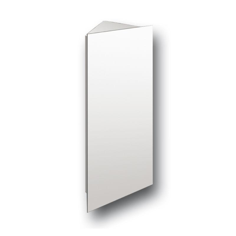 Tall corner hinge cabinet mirror bathroom wall mounted for Corner bathroom wall cabinet with mirror