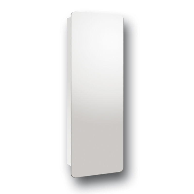 Tall wall hinge cabinet mirror bathroom wall mounted stainless steel 460x1200mm ebay for Tall stainless steel bathroom cabinet