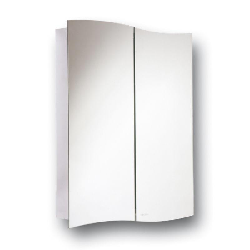 Wave Duo Hinge Cabinet Mirror Bathroom Wall Mounted
