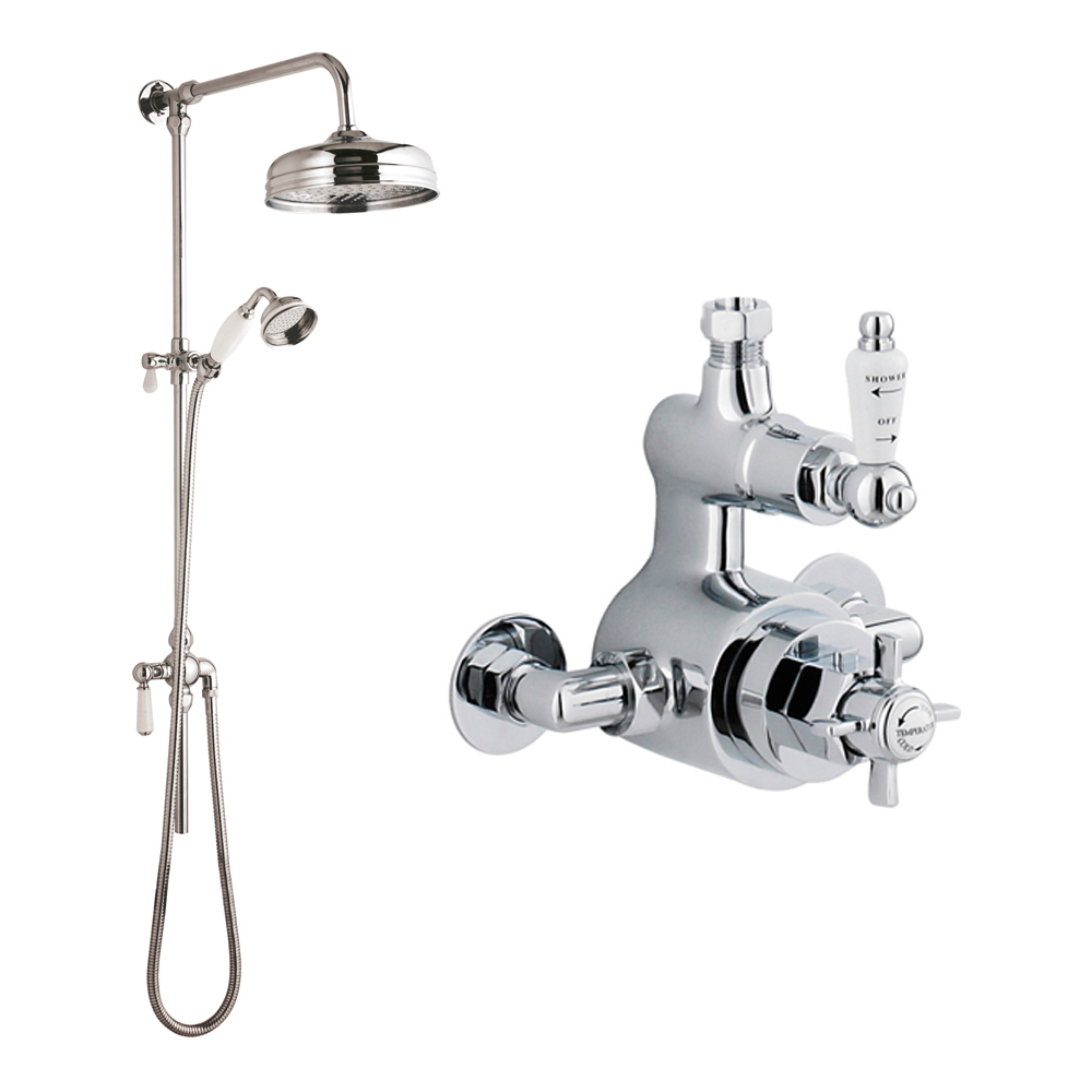 High Quality Professional Design Thermostatic Mixer Valve: Ultra Victorian Traditional Thermostatic Shower Mixer