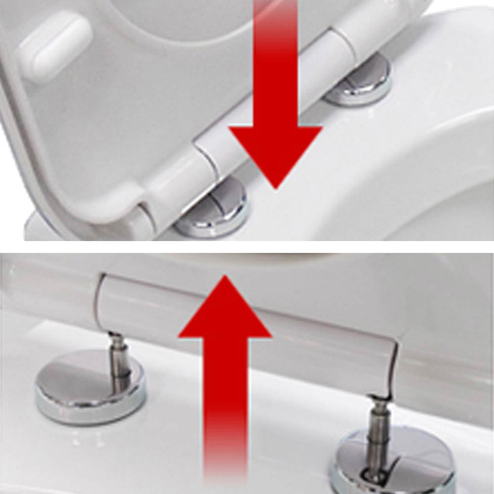 D Shaped Soft Close Back To Wall Close Coupled Toilet Top Fixing Seat NTS00